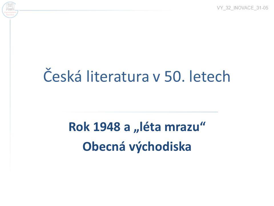 Česká literatura v 50. letech