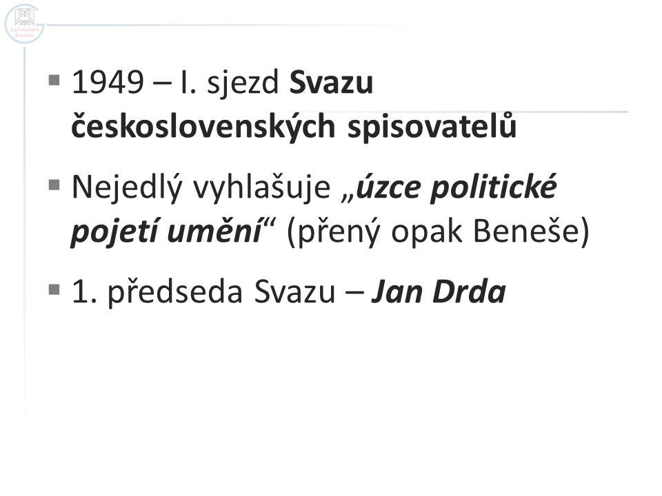 1949 – I. sjezd Svazu československých spisovatelů