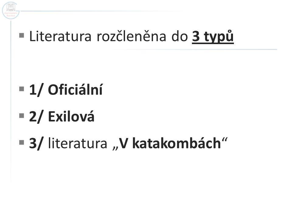 Literatura rozčleněna do 3 typů