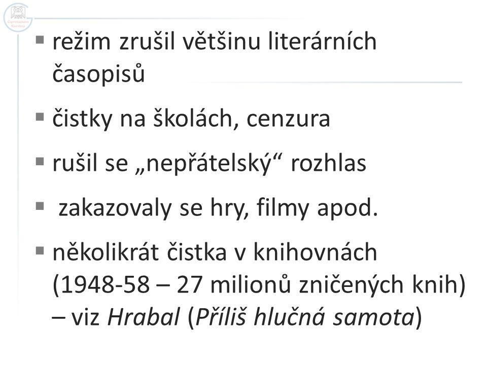 režim zrušil většinu literárních časopisů