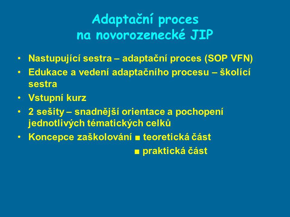 Adaptační proces na novorozenecké JIP