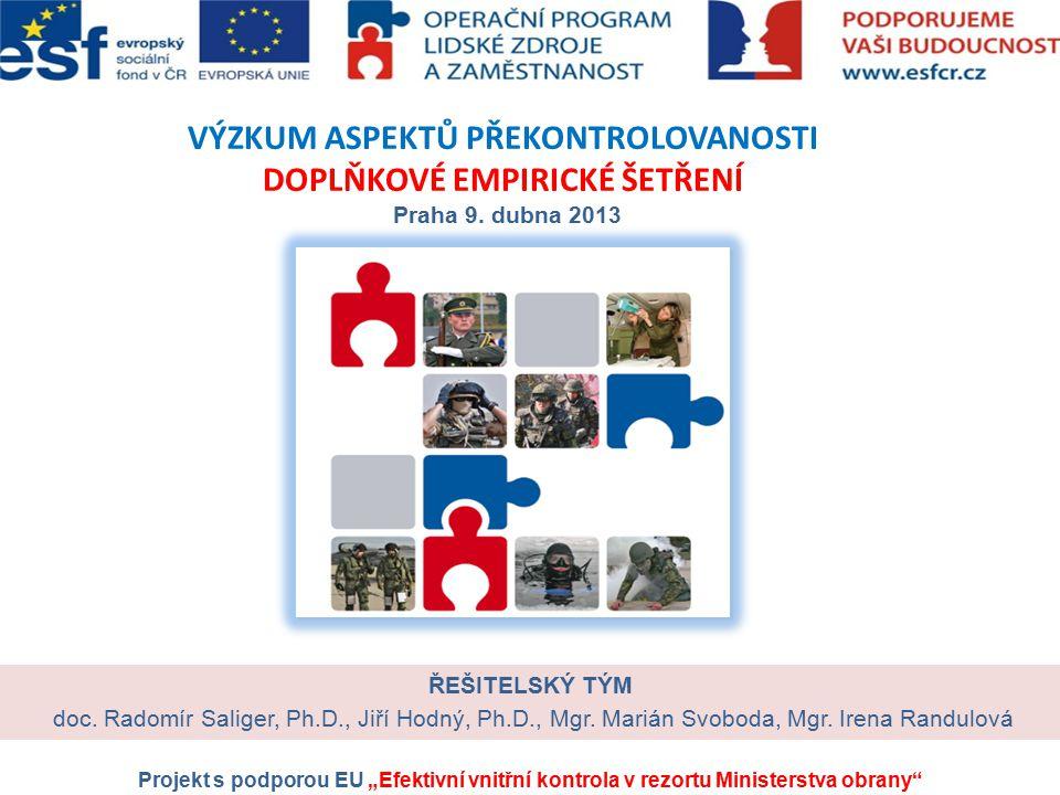 VÝZKUM ASPEKTŮ PŘEKONTROLOVANOSTI DOPLŇKOVÉ EMPIRICKÉ ŠETŘENÍ Praha 9