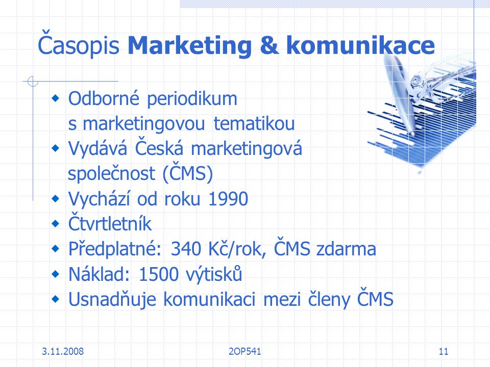 Časopis Marketing & komunikace