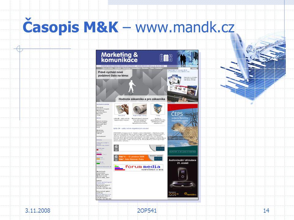 Časopis M&K – www.mandk.cz