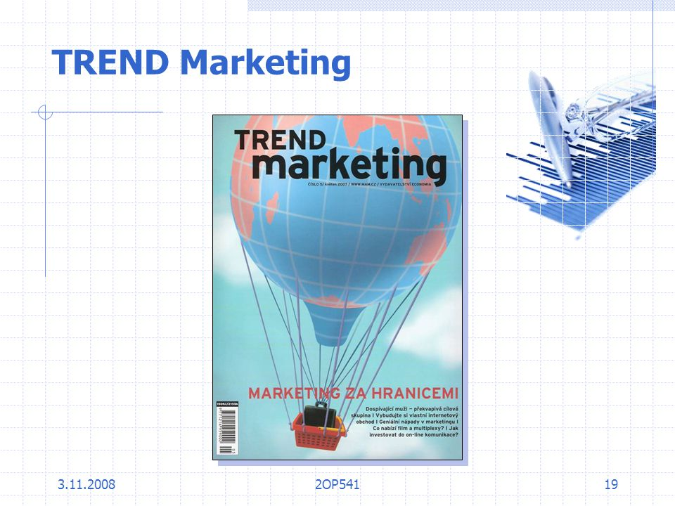 TREND Marketing 3.11.2008 2OP541
