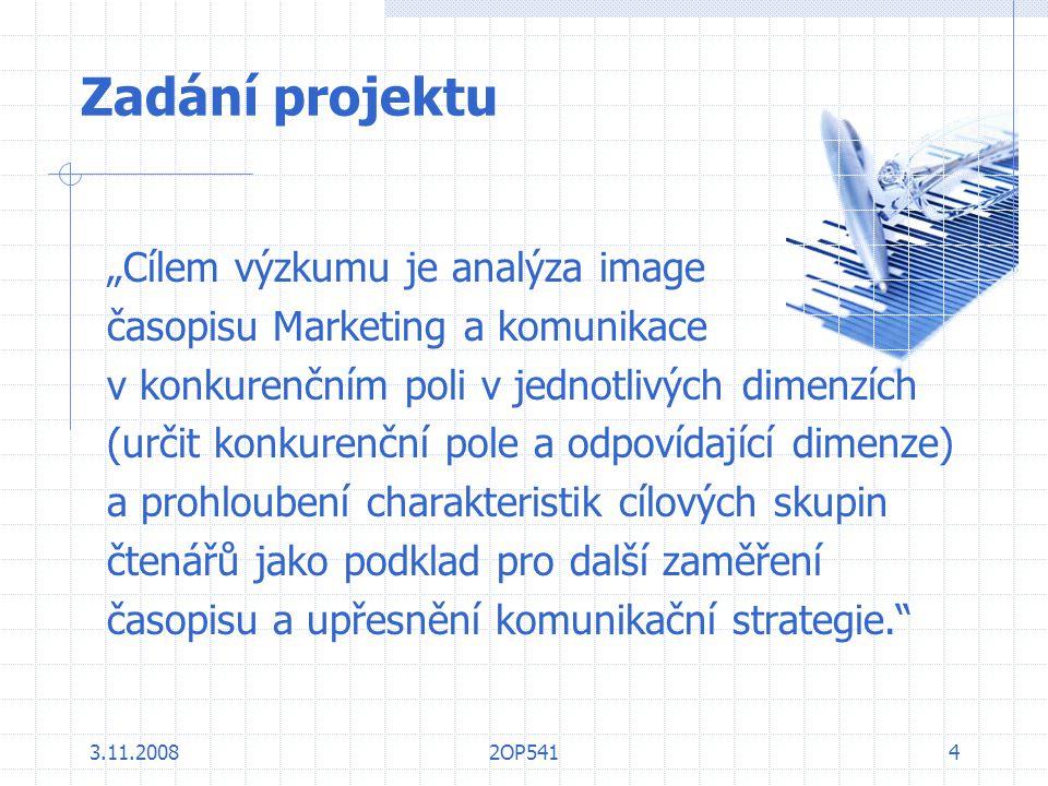 """Zadání projektu """"Cílem výzkumu je analýza image"""