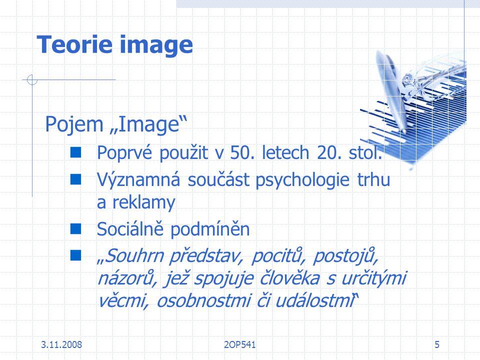 """Teorie image Pojem """"Image Poprvé použit v 50. letech 20. stol."""