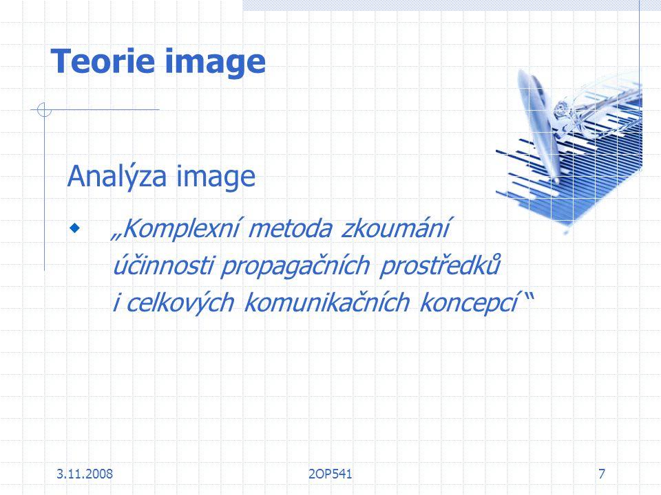 """Teorie image Analýza image """"Komplexní metoda zkoumání"""
