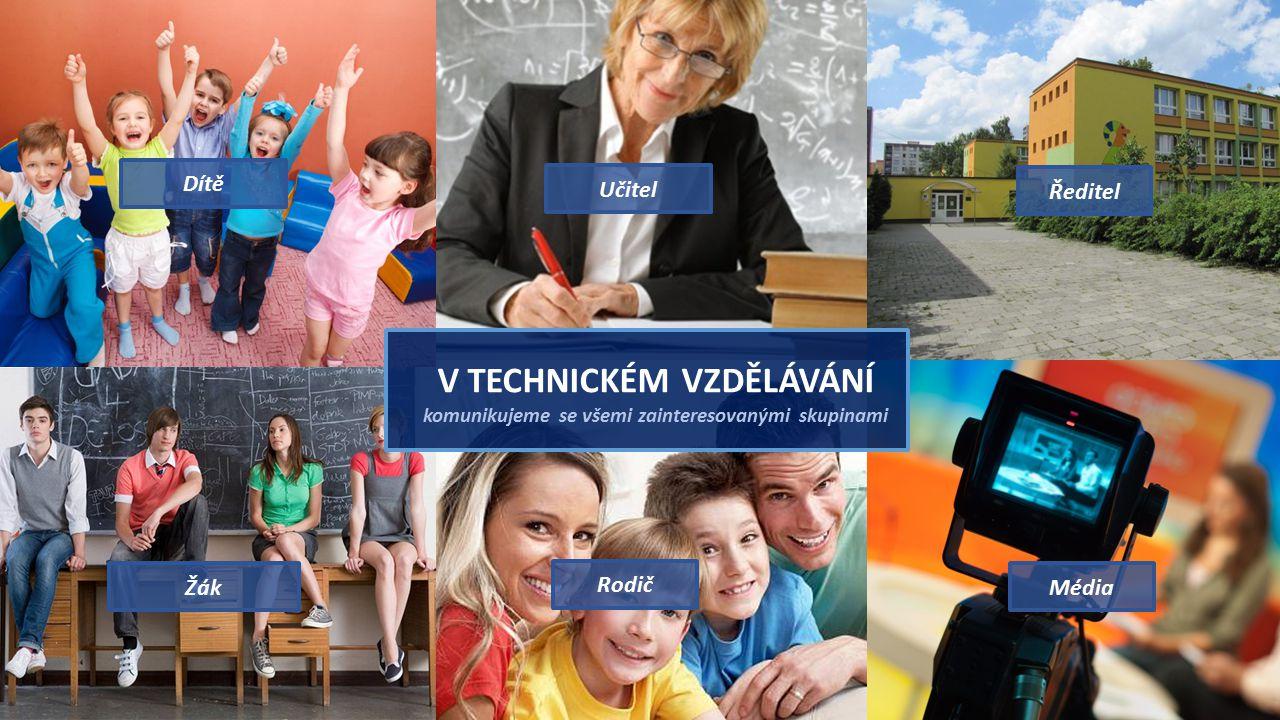 Dítě Učitel. Ředitel. V TECHNICKÉM VZDĚLÁVÁNÍ komunikujeme se všemi zainteresovanými skupinami. Žák.