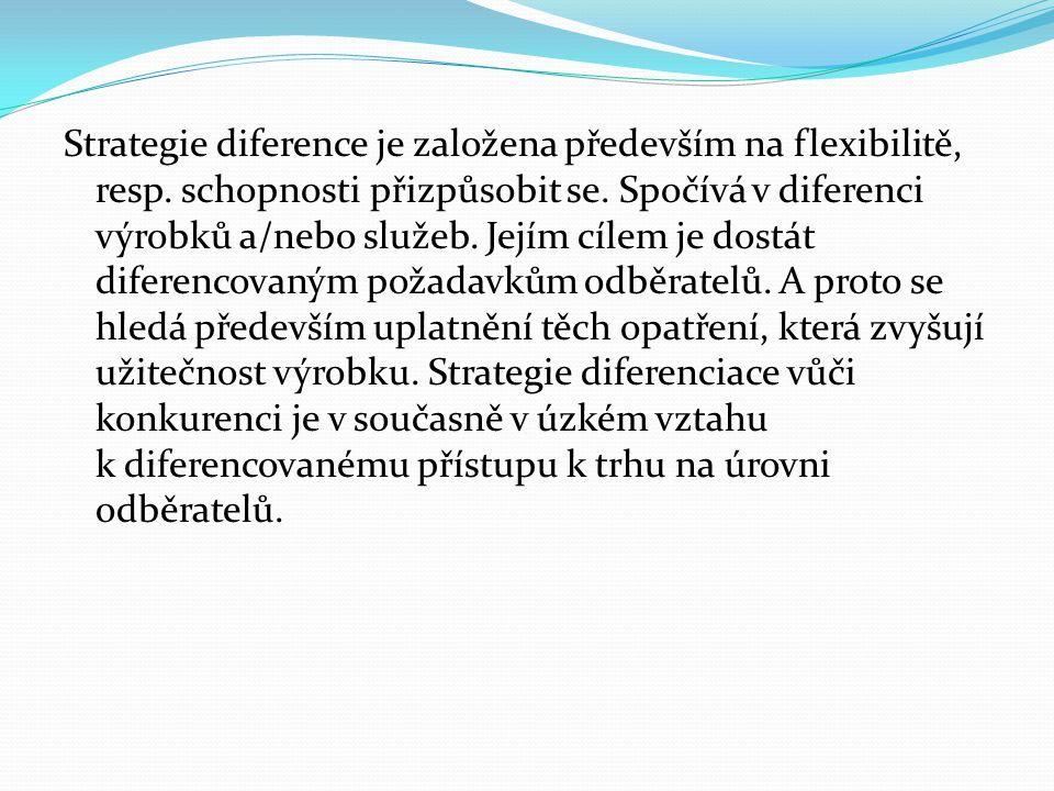 Strategie diference je založena především na flexibilitě, resp