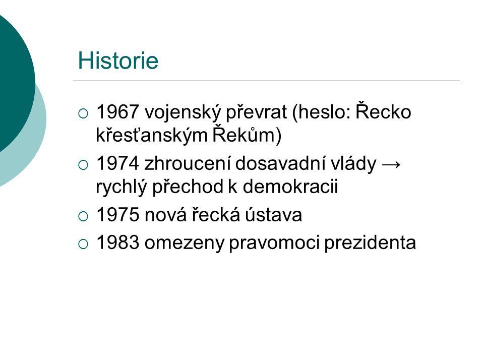 Historie 1967 vojenský převrat (heslo: Řecko křesťanským Řekům)