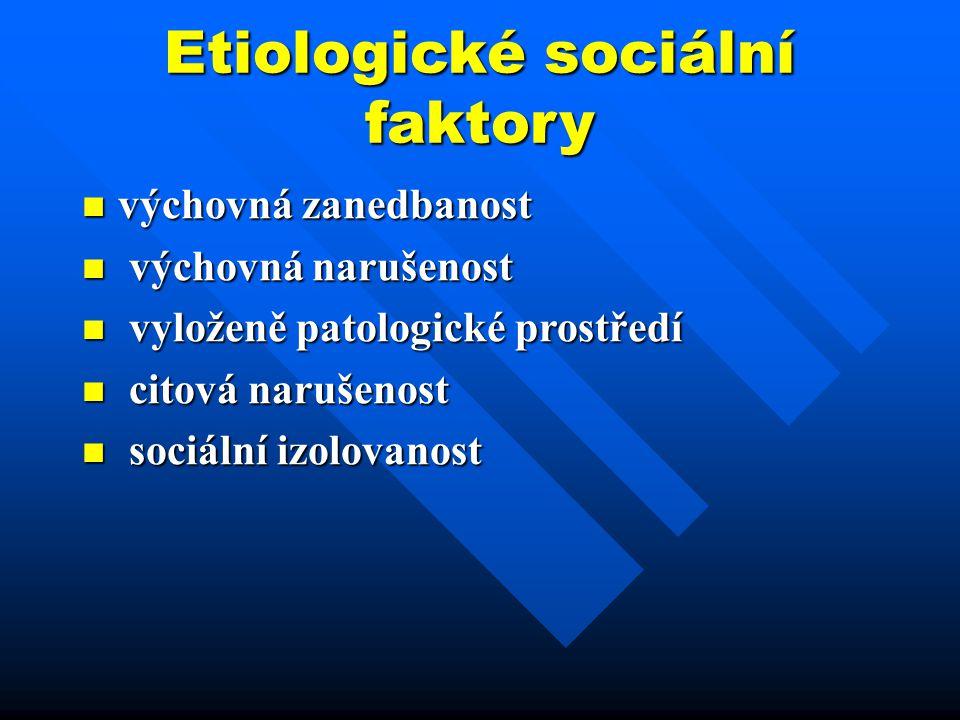 Etiologické sociální faktory