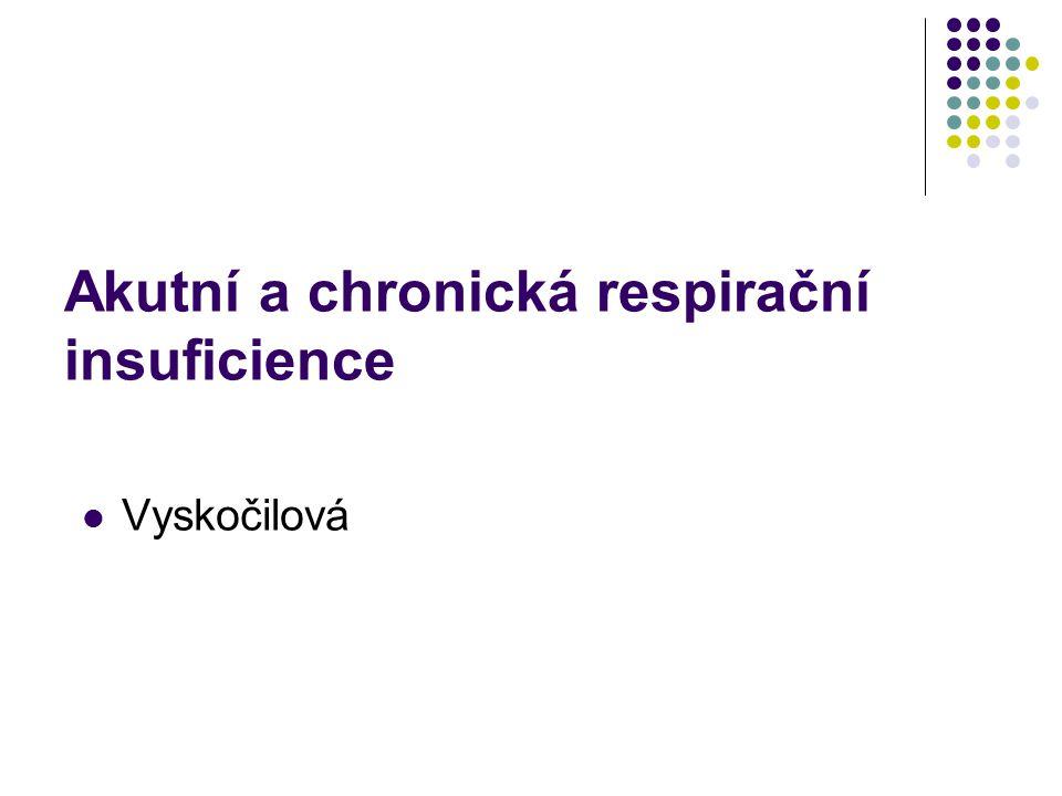 Akutní a chronická respirační insuficience