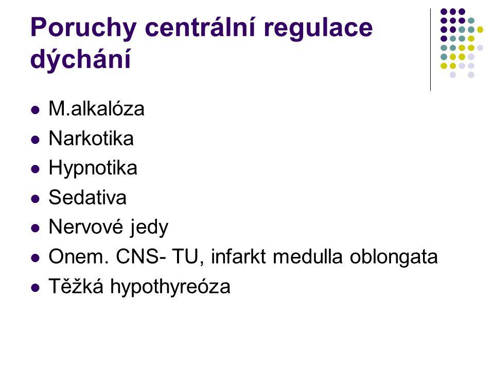 Poruchy centrální regulace dýchání