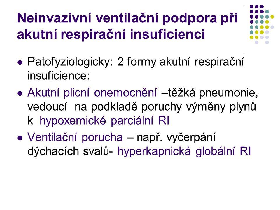 Neinvazivní ventilační podpora při akutní respirační insuficienci