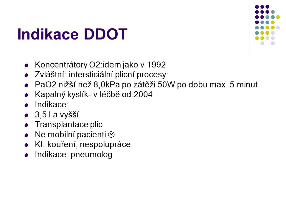 Indikace DDOT Koncentrátory O2:idem jako v 1992