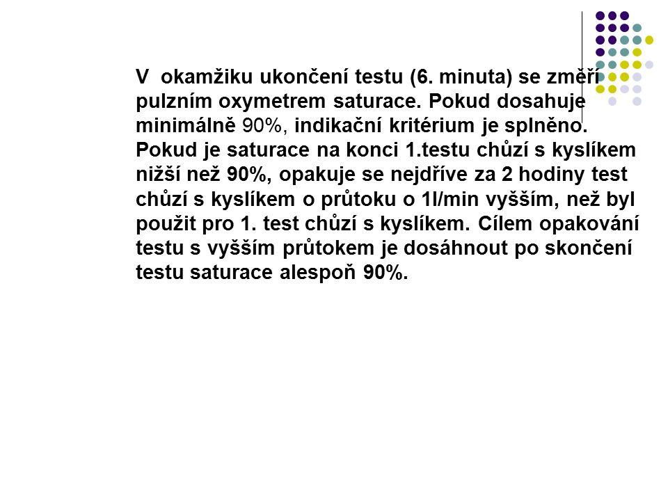 V okamžiku ukončení testu (6