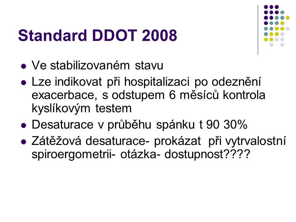 Standard DDOT 2008 Ve stabilizovaném stavu