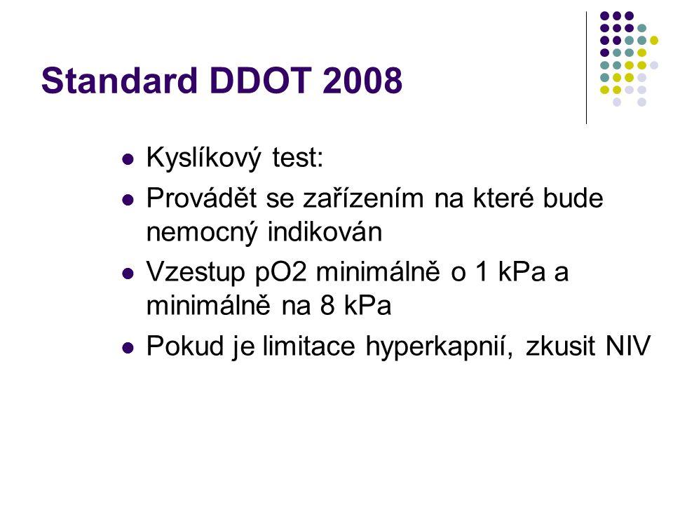 Standard DDOT 2008 Kyslíkový test: