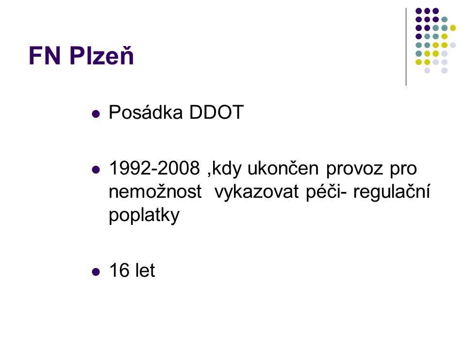 FN Plzeň Posádka DDOT. 1992-2008 ,kdy ukončen provoz pro nemožnost vykazovat péči- regulační poplatky.