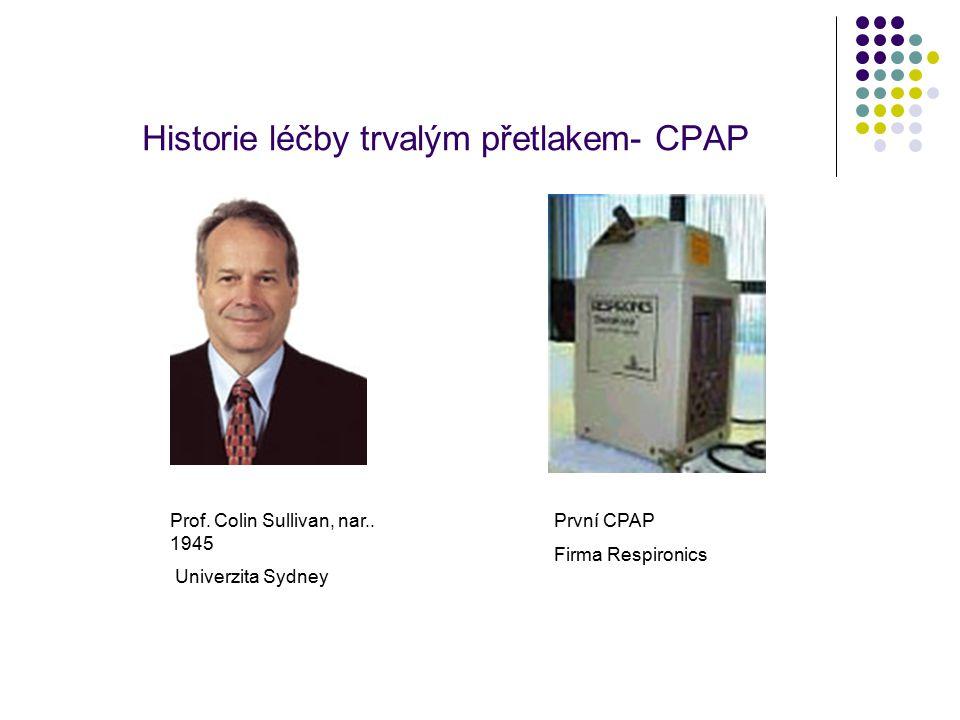Historie léčby trvalým přetlakem- CPAP