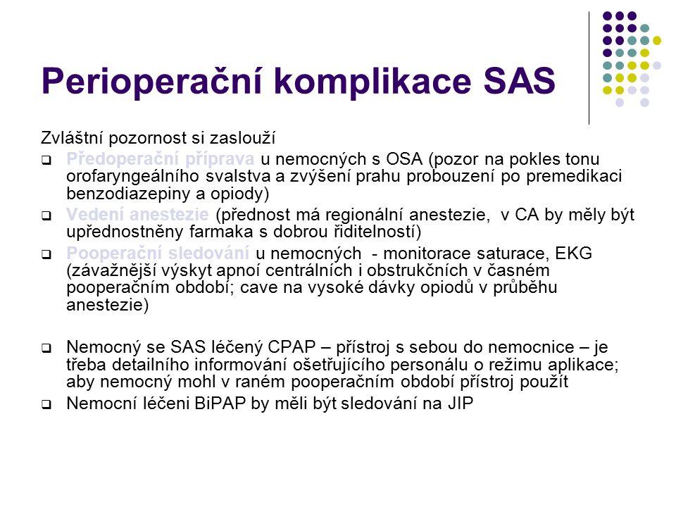 Perioperační komplikace SAS