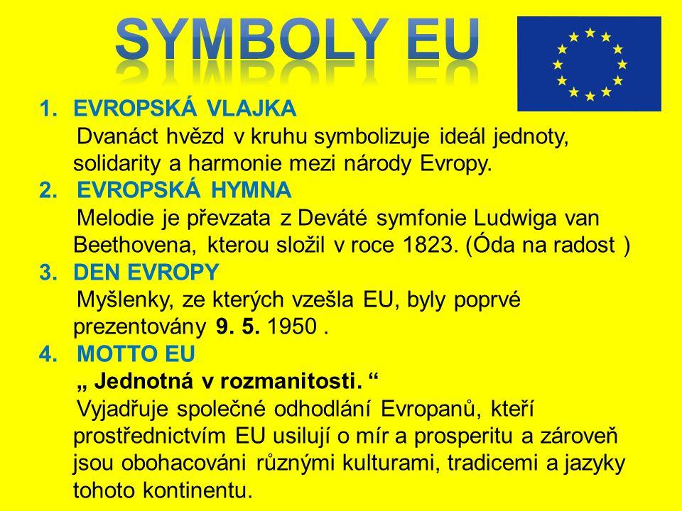 Symboly EU EVROPSKÁ VLAJKA