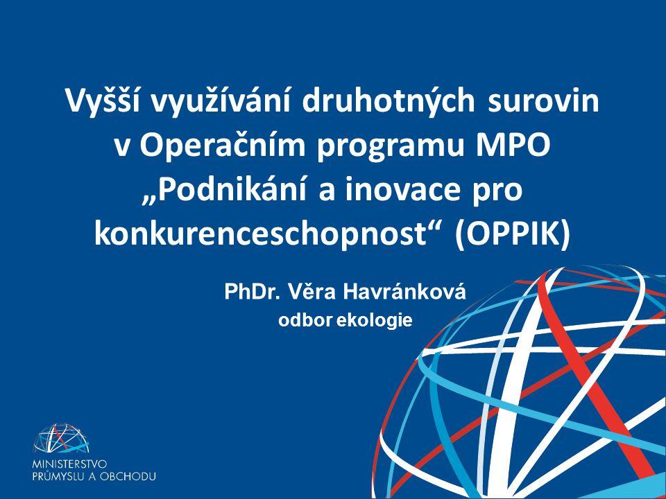 PhDr. Věra Havránková odbor ekologie