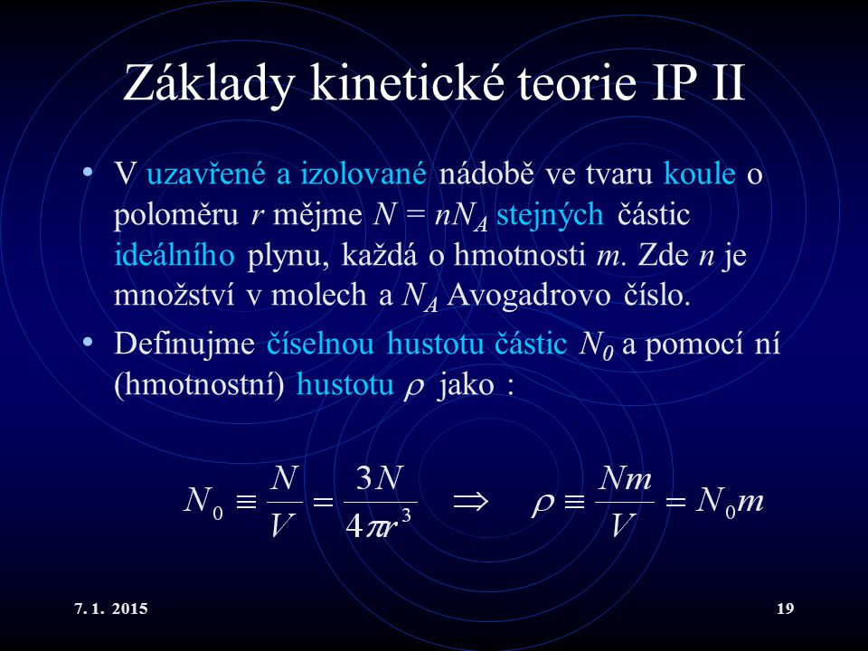 Základy kinetické teorie IP II