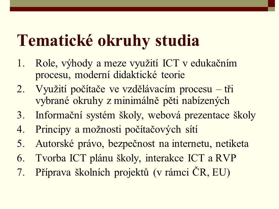 Tematické okruhy studia