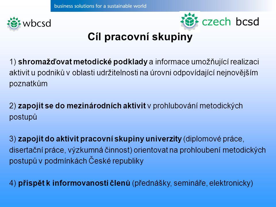 czech bcsd Cíl pracovní skupiny