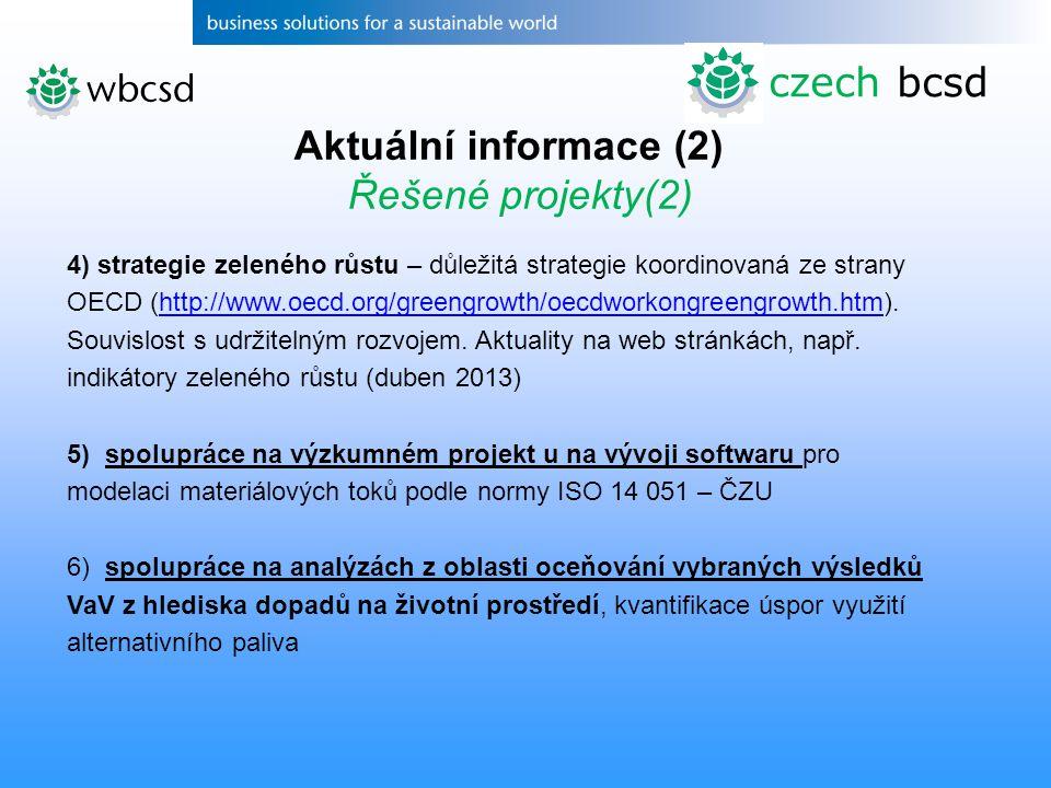 czech bcsd Aktuální informace (2) Řešené projekty(2)