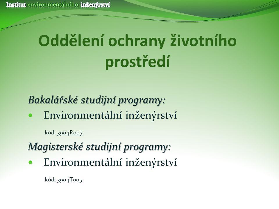 Oddělení ochrany životního prostředí