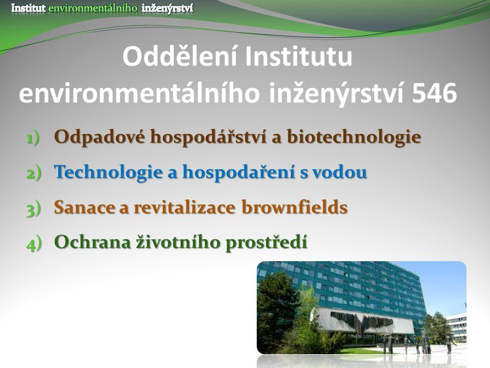 Oddělení Institutu environmentálního inženýrství 546