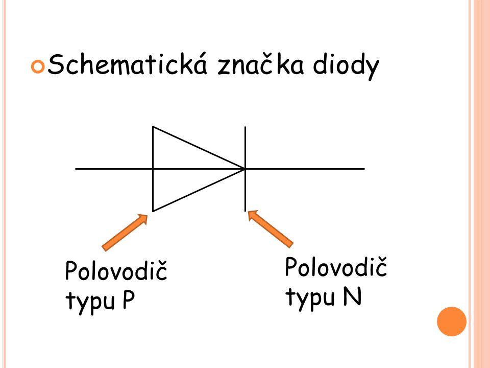 Schematická značka diody