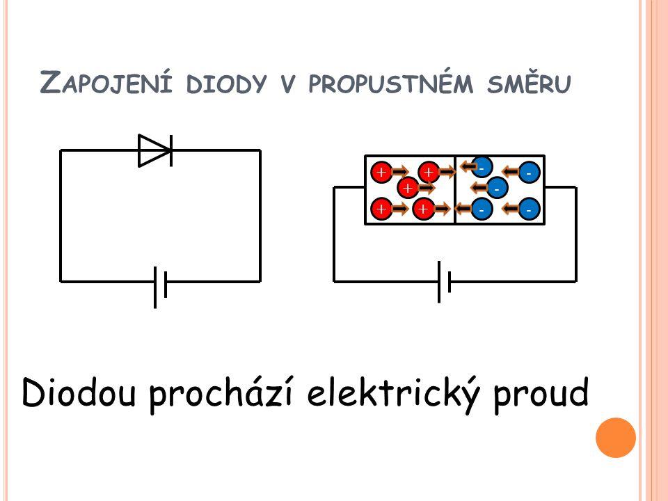 Zapojení diody v propustném směru
