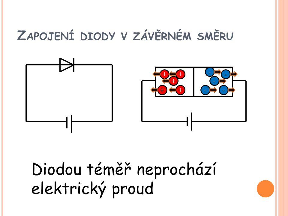 Zapojení diody v závěrném směru
