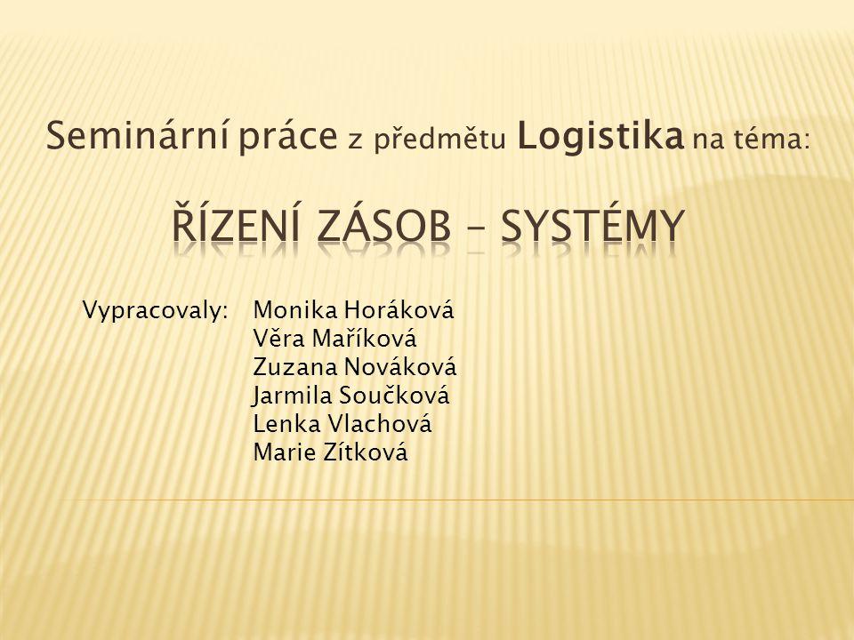 Seminární práce z předmětu Logistika na téma: