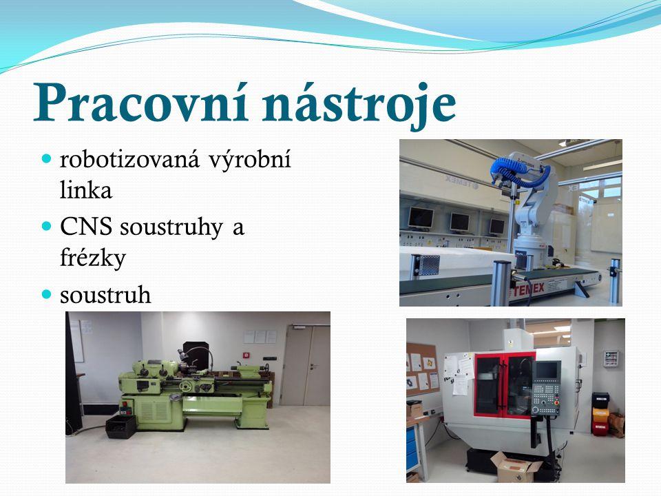 Pracovní nástroje robotizovaná výrobní linka CNS soustruhy a frézky