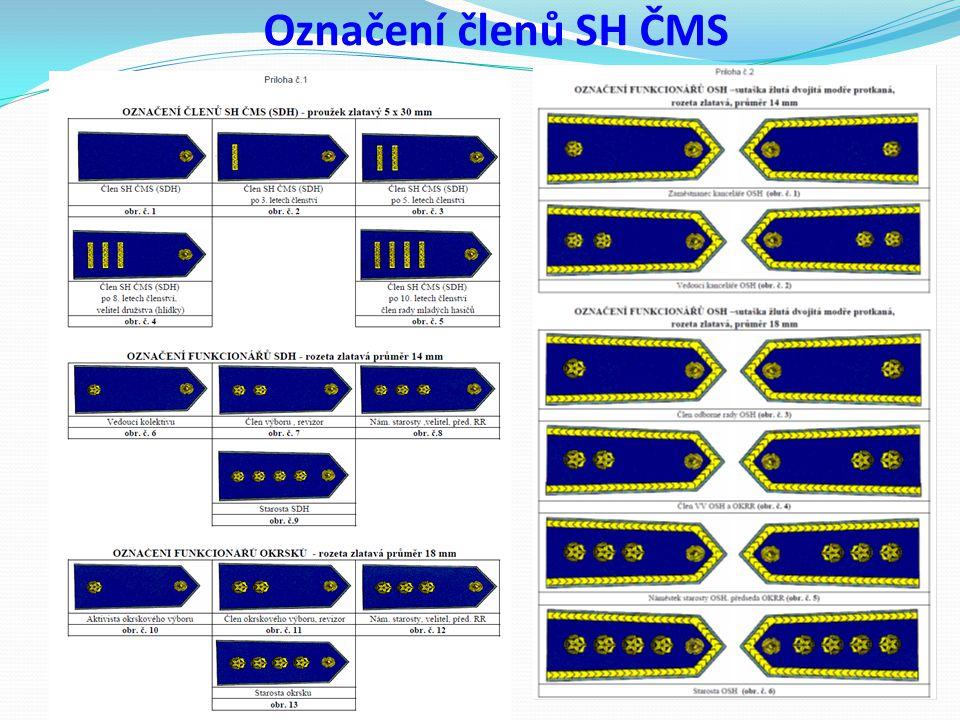Označení členů SH ČMS