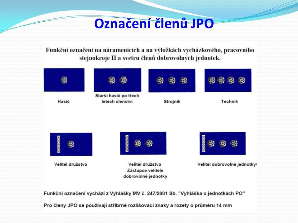 Označení členů JPO