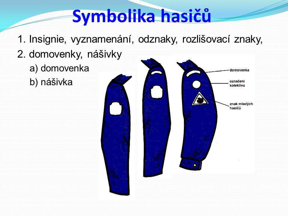 Symbolika hasičů 1. Insignie, vyznamenání, odznaky, rozlišovací znaky,