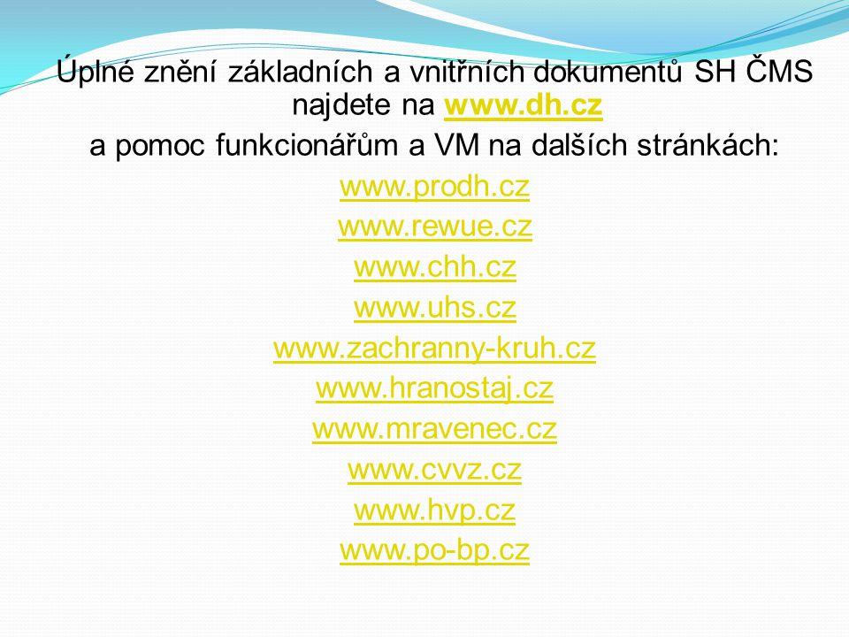 a pomoc funkcionářům a VM na dalších stránkách: