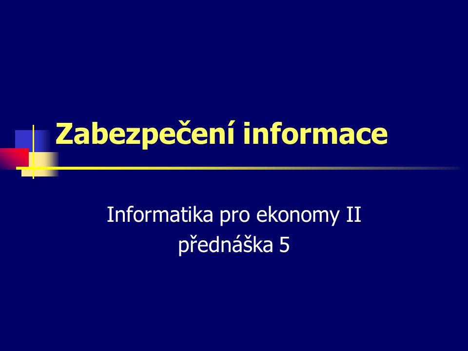 Zabezpečení informace
