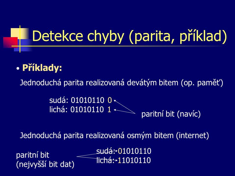 Detekce chyby (parita, příklad)