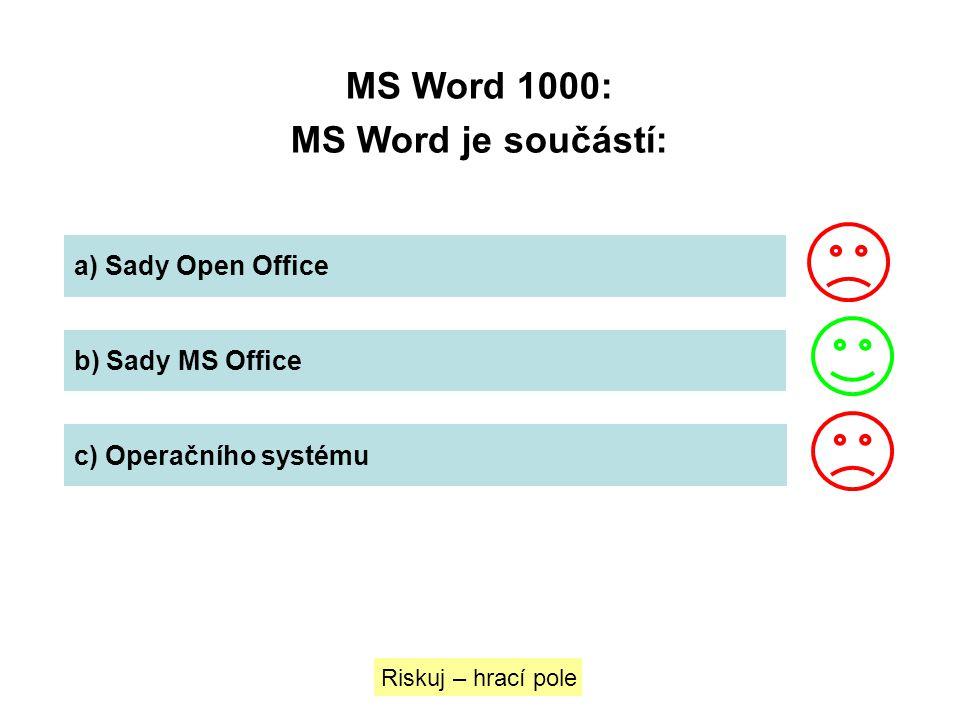 MS Word 1000: MS Word je součástí: