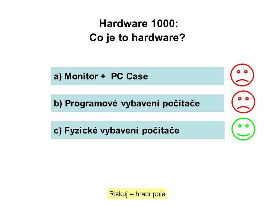 Hardware 1000: Co je to hardware