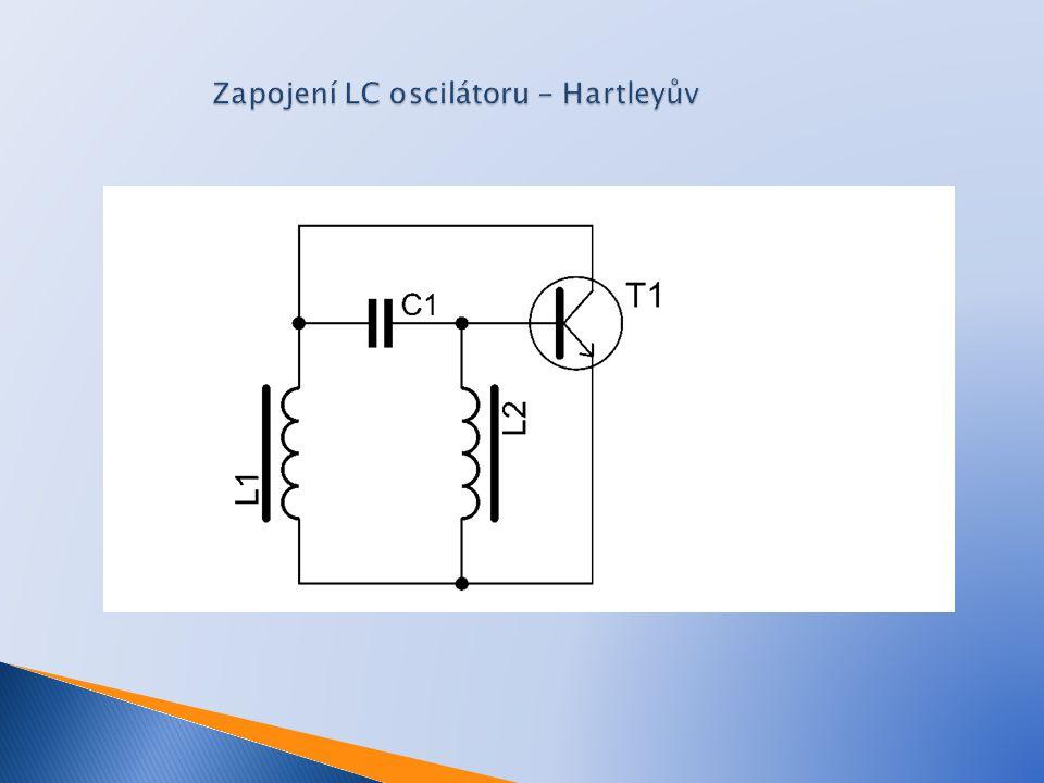 Zapojení LC oscilátoru - Hartleyův