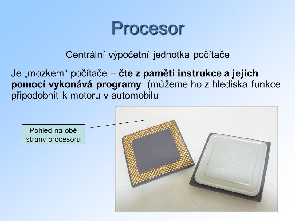 Procesor Centrální výpočetní jednotka počítače