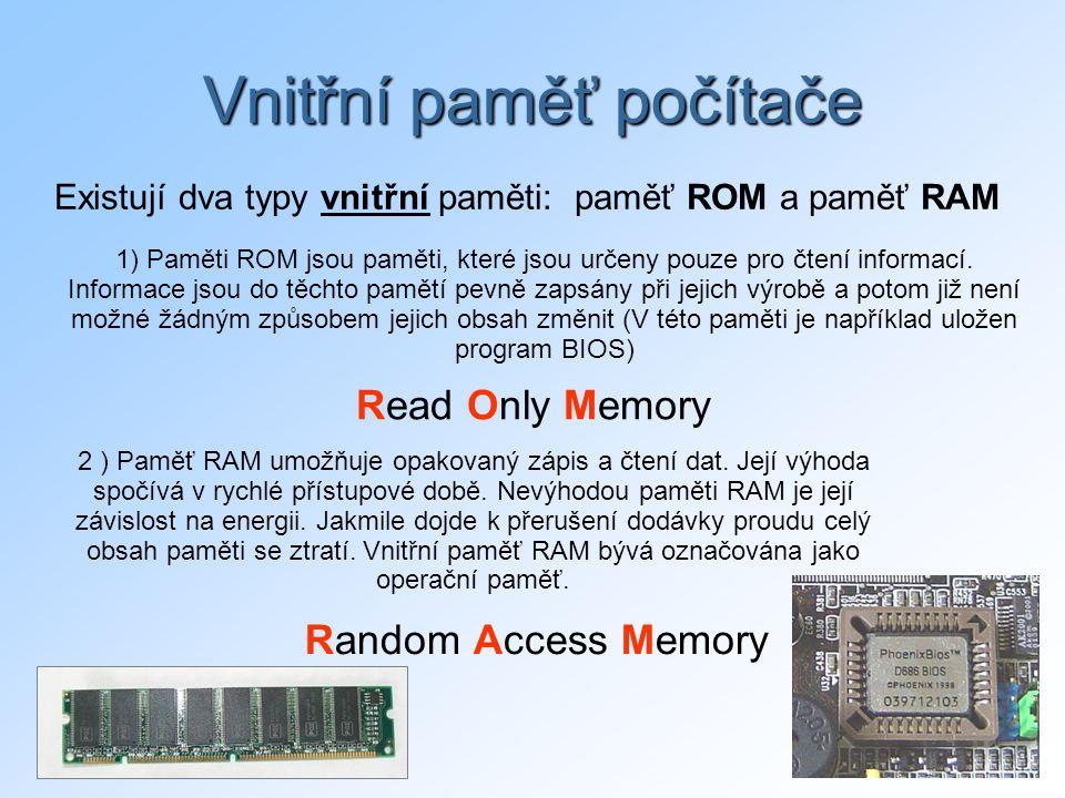 Vnitřní paměť počítače